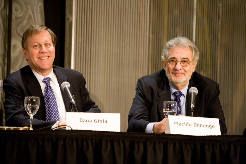Dana Gioia and Placido Domingo